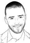 Disegno da colorare Justin Timberlake