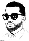 Disegno da colorare Kanye West