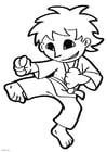 Disegno da colorare karate