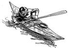 Disegno da colorare kayak