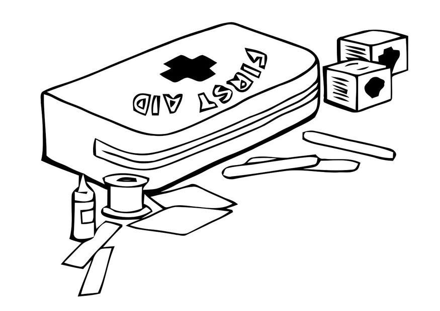 Disegno Da Colorare Kit Di Pronto Soccorso Cat 22791
