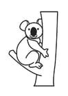 Disegno da colorare koala