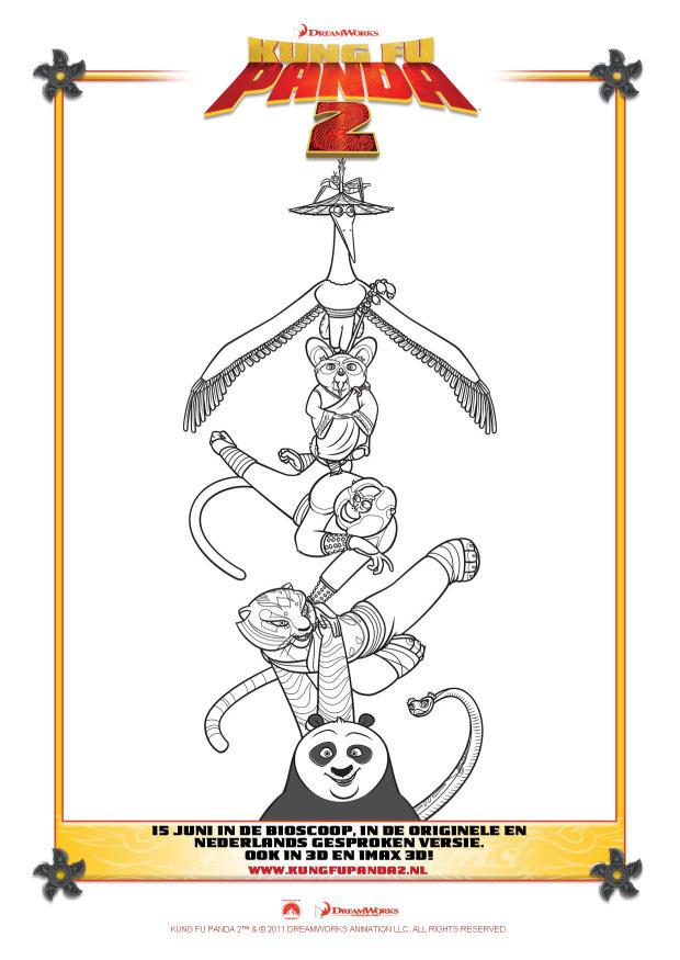 Disegno Da Colorare Kung Fu Panda 2 Cat 22409