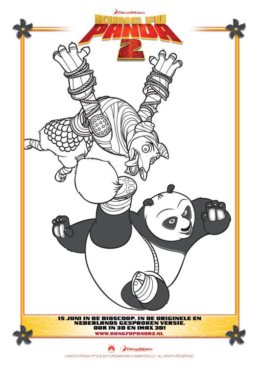 Disegno Da Colorare Kung Fu Panda 2 Cat 22401