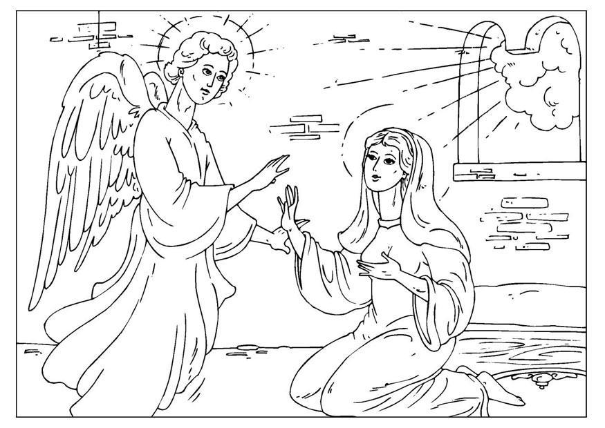 disegno da colorare l'angelo gabriele  cat 25927