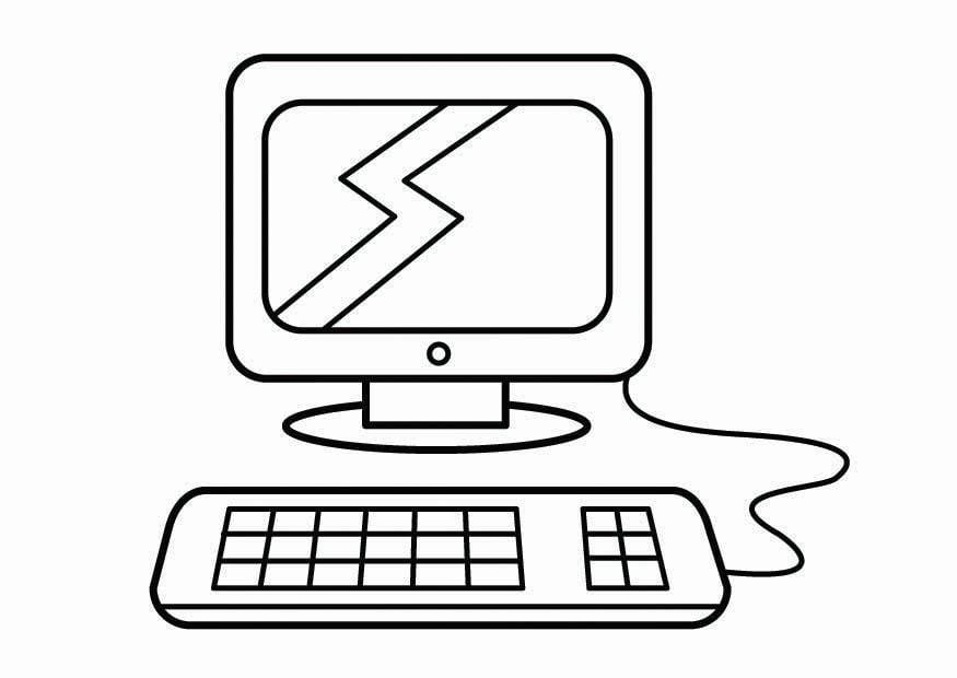 Dibujos Para Pintar En La Compu: Disegno Da Colorare L'angolo Del Computer