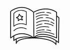 Disegno da colorare l'angolo della lettura