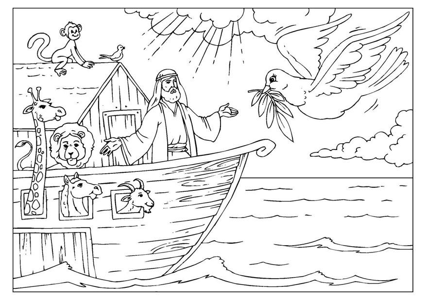 Arca Di Noe Da Colorare.Disegno Da Colorare L Arca Di Noe Disegni Da Colorare E Stampare