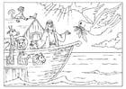 Disegno da colorare l'Arca di Noe