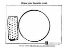 Disegno da colorare la buona alimentazione
