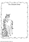 Disegno da colorare la canzone dell'unicorco