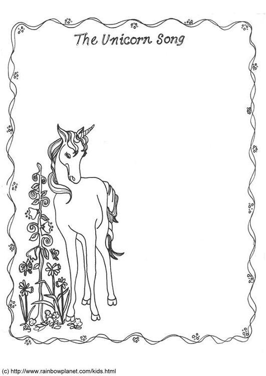 Disegno Da Colorare La Canzone Dell Unicorno Disegni Da Colorare