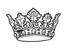 Disegno da colorare la Corona del Re