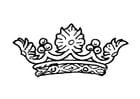 Disegno da colorare la Corona della Regina