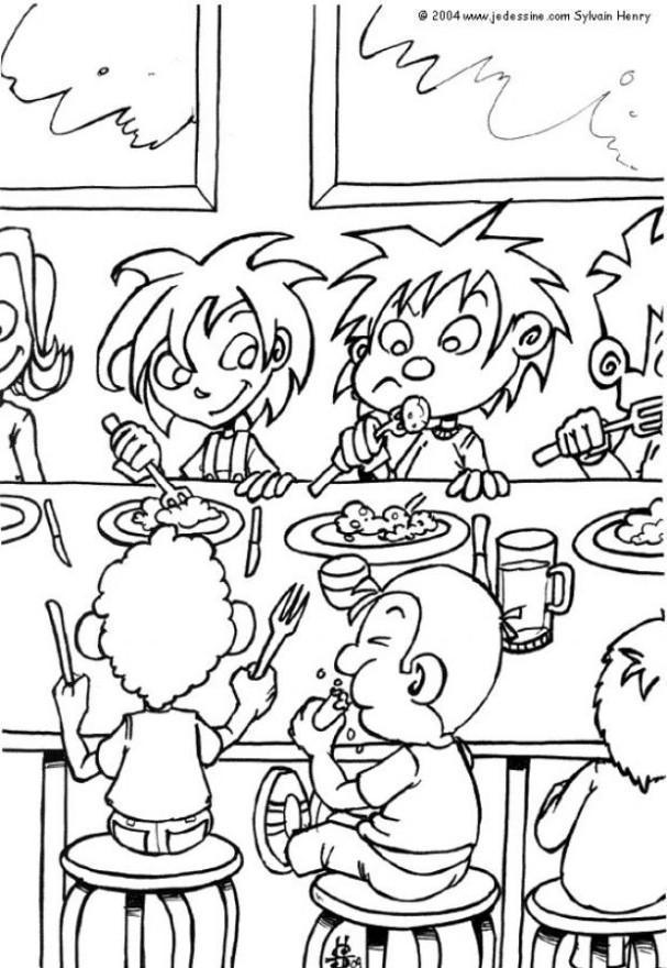 Disegno da colorare la mensa cat 6436 for Comedor para dibujar
