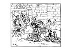 Disegno da colorare la morte di Achille
