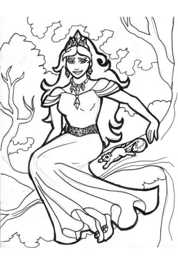 Disegno da colorare la regina degli alberi cat 6019 for Foto di alberi da colorare