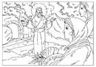 Disegno da colorare la resurrezione di Gesù