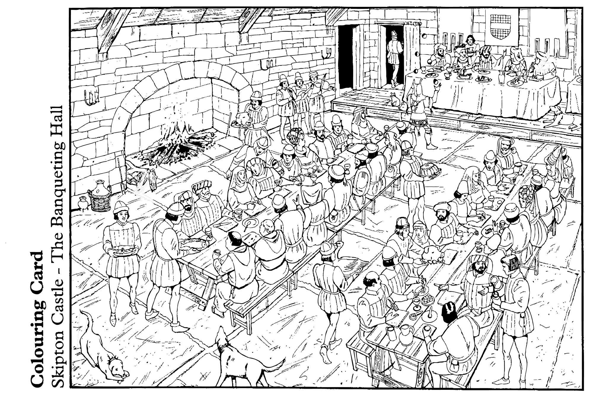 Disegno Da Colorare La Sala Del Banchetto Cat 14894