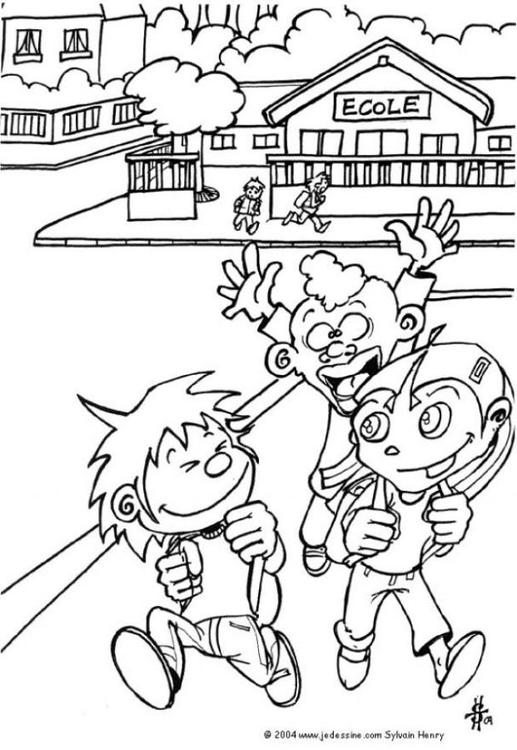 schools out coloring pages imagination - photo#2