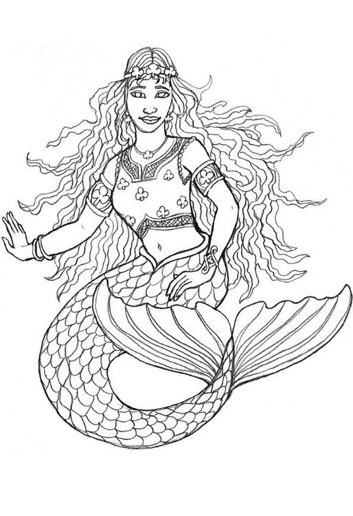 Disegno Da Colorare La Sirena Di Shamrock Cat 6024