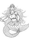 Disegno da colorare la sirena di Shamrock