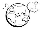 Disegno da colorare La Terra