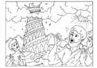 Disegno da colorare La Torre di Babele