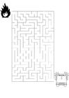 Disegno da colorare labirinto - pompiere