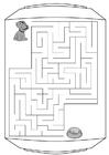 Disegno da colorare labirinto