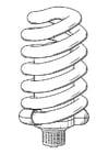 Disegno da colorare lampada a basso consumo