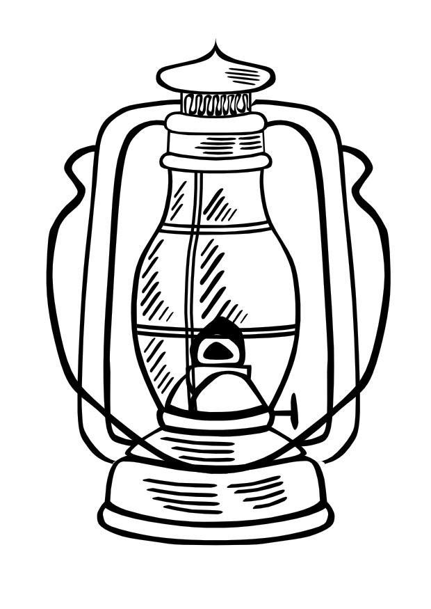 Disegno da colorare lampada ad olio - Cat. 10013.