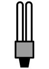 Disegno da colorare lampadina a basso consumo
