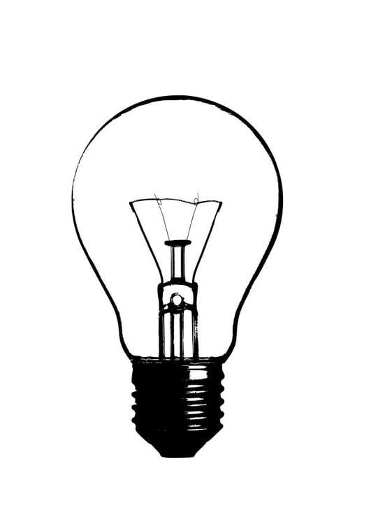 Disegno da colorare lampadina - Cat. 10244.