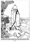 Disegno da colorare lancio navetta spaziale