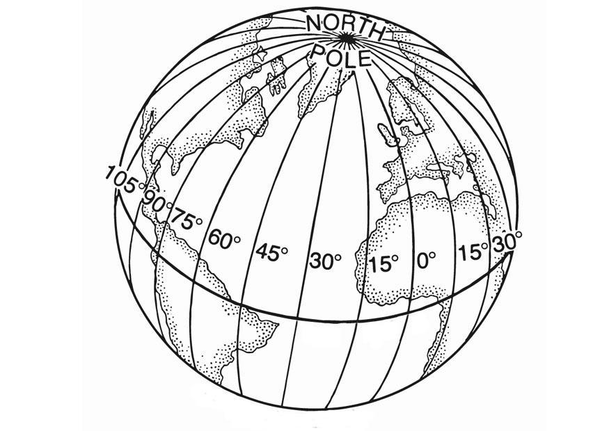 Disegno da colorare latitudine cat 13197 - Immagine da colorare della terra ...