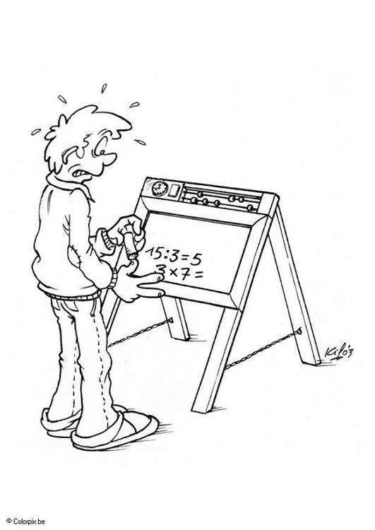 Disegno Da Colorare Lavagna Con Numeri Cat 5511