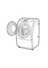 Disegno da colorare lavatrice