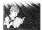 Disegno da colorare leggere un libro