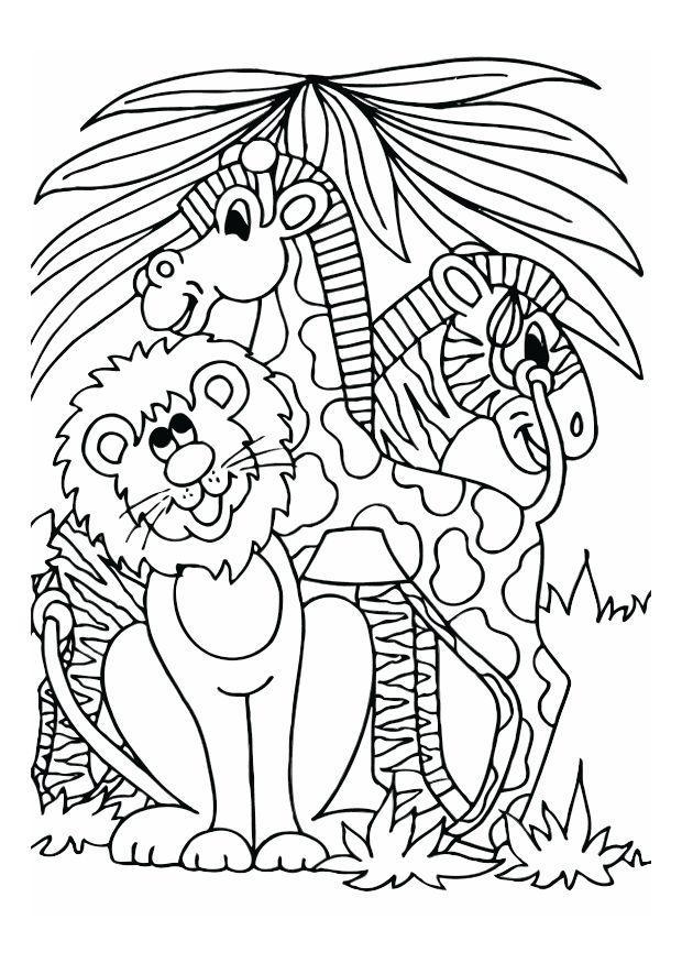 Disegno Da Colorare Leone Giraffa E Zebra Disegni Da