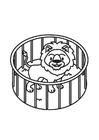 Disegno da colorare leone in gabbia