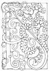 Disegno da colorare lettera - A