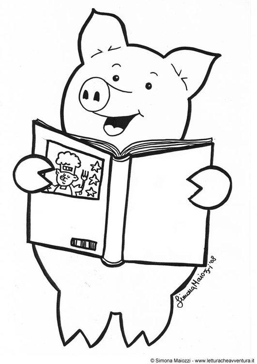 Disegno da colorare libro di cucina - Cat. 12340.