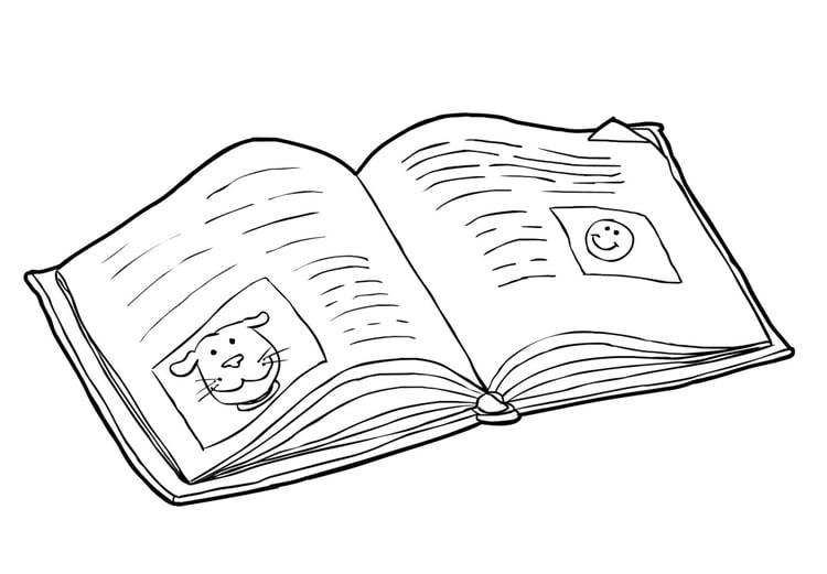 Disegno Da Colorare Libro Leggere Cat 14824