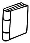 Disegno da colorare libro