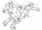 Disegno da colorare litigio - combattimento