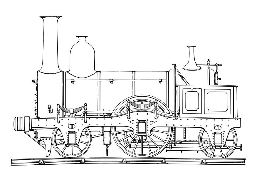 Disegno da colorare locomotiva a vapore cat 19075 for Printable steam train coloring pages