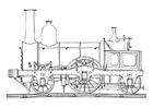 Disegno da colorare locomotiva a vapore