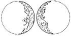 Disegno da colorare luna crescente e luna decrescente