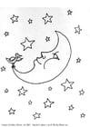 Disegno da colorare luna